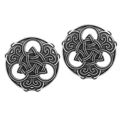 2Pcs Ancient Medieval Viking Norse Brooch Pins Cloak Coat Jewelry Buckle Pin