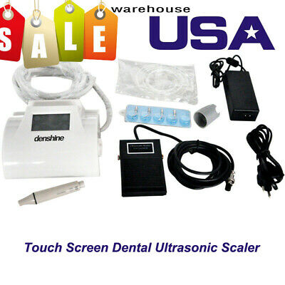 US Touch Screen Dental Ultrasonic Scaler Piezo Cavitron With LED Light Handpiece