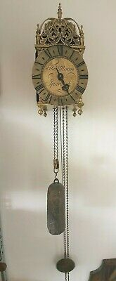 Lantern Wall Clock Tho' Moore Ipswich Vintage Chain Driven 8 Day
