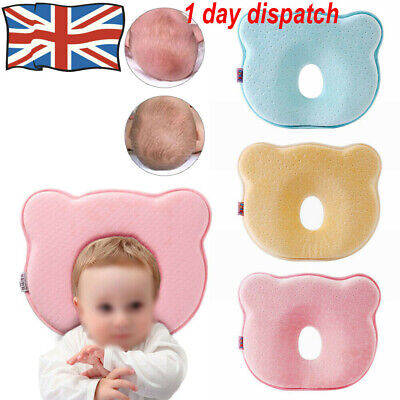 Baby Cot Pillow Newborn Infant Anti Flat Head Cushion for Crib Bed Neck-Support✔