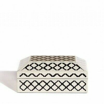 Antique Handmade Bone Inlay Box Designer Jewelry Box Decorative Jewelry Box