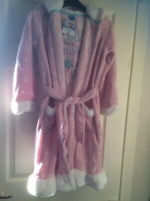 Disney Frozen Dressing Gown Age 9-10 Years New With Tags From Tu Hooded