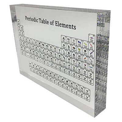 Acrylic Periodic Table Of Elements Display For Home Teaching Decor Gift Portable