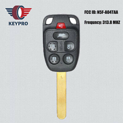 Set of 2 Key Fob Shell fits 2011-2013 Honda Odyssey Keyless Entry Remote Case /& Button Pad N5F-A04TAA