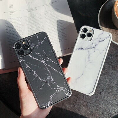 For iPhone 11 Pro Max XS XR 8 7 6 Plus Marble Shockproof Bumper Phone Case Cover