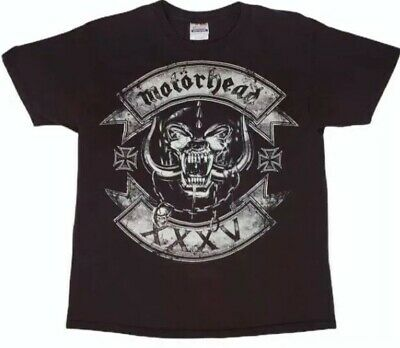 Motorhead XXXV T- Shirt L 2010 Double Sided Brown Snaggletooth Lemmy Punk Metal