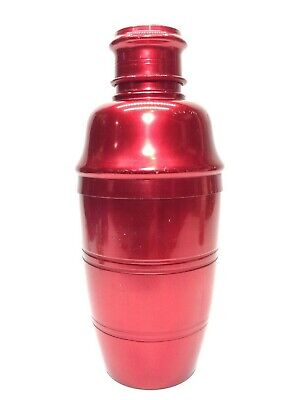 Vintage Retro Red Anodised Cocktail Shaker