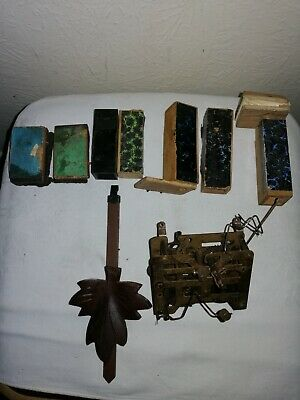 Collection of Cuckoo Clock Parts, Pendulum, Bellows & B100 150 Movement.