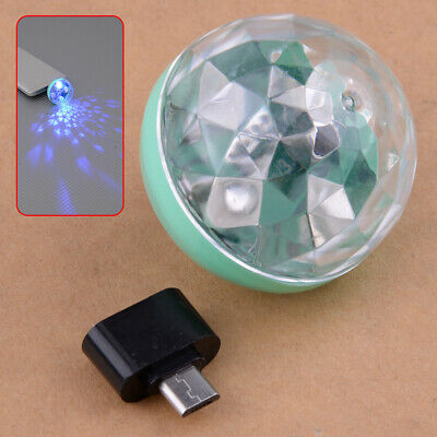 USB Mini RGB LED Disco Stage Light Home Party Club DJ KTV Phone Magic Lamp Ball