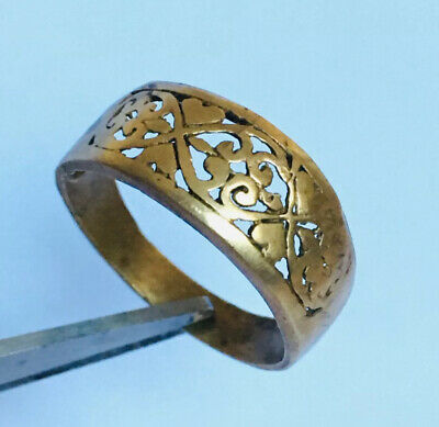Ancient Rare  Viking RING Bronze Legionary  Extremely Authentic Artifact