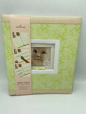 Hallmark Baby First Year Memory Book Boy Girl Photo Album NEW