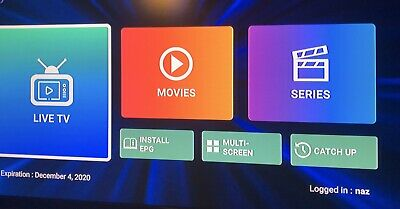 Iptv 12 Month Vip & Vod Firestick Android Magbox Ipad Renewal Service Available