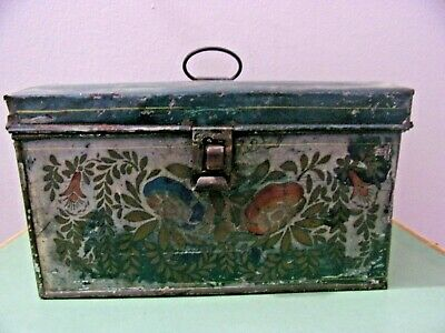 Fine Mid 19th century Tole Painted Dome Document Box