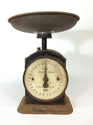 Vintage Rustic Farmhouse Salter Hughs Family Scale Scales
