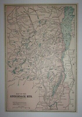1897 Map of the Adirondack Mountains
