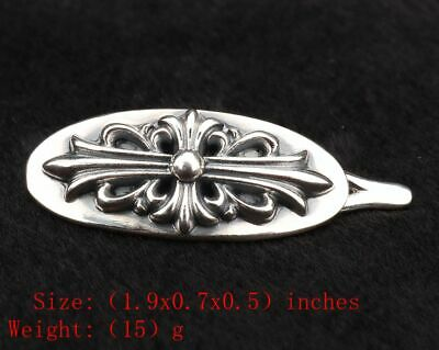 Precious Chinese 925 Silver Solid Silver Real Silver Hairpi Lady Old Handmade