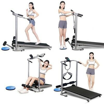 Folding Treadmill Non-Electric Motorized Power Running Jogging Fitness Machine