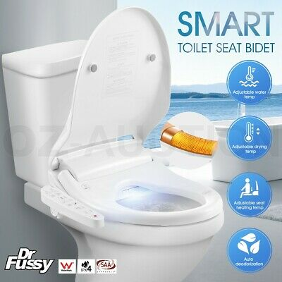 Smart Toilet Bidet Seat Cover Electronic Water Wash Spray Clean Washlet Heated