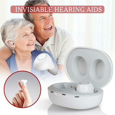 Rechargeable Small In Ear Invisible Hearing Aid Adjustable Tone Sound Amplifier