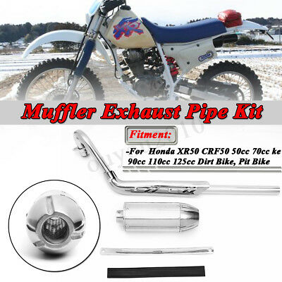 Exhaust Pipe Muffler For HONDA XR50R CRF50F 50cc 70cc 90cc 110cc 125cc Dirt