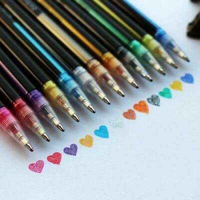 12pcs/set Gel Paint Pens Glitter Coloring Craft Art Markers Drawing Painting AU