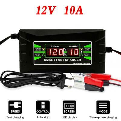 6 Amp Car Battery Charger Pulse Repair Jump Starter Intelligent 12V AGM/GEL HOT