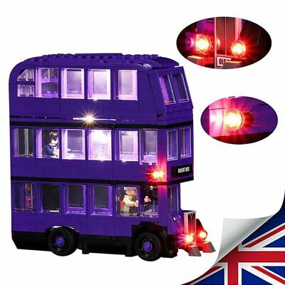 Hot LED Light Up Kit For LEGO 75957 The Knight Bus Lighting Set kit building Bus