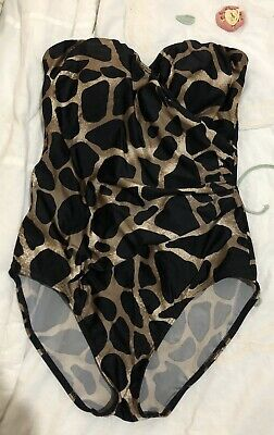 Womens womans ladies girls leopard print swimsuit size 10 worn once