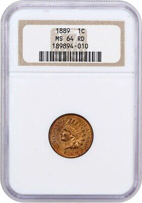 1889 1c NGC MS64 RD - Indian Cent