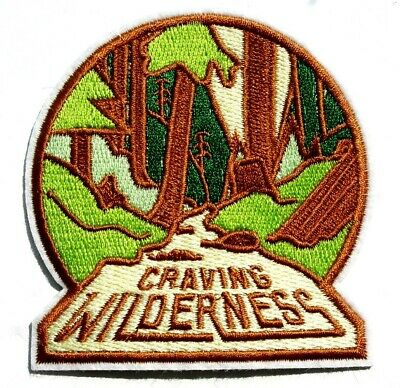Wilderness Outdoors Patch Camping Mountains Traveller Hiking Hiker Iron Sew On