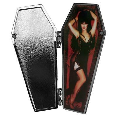 Elvira Open Coffin Vampire Mistress Dark Enamel Pin Horror Monster Movie Gift