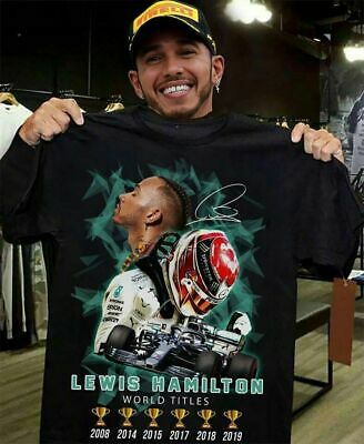 Lewis Hamilton 44 v3 Mercedes Amg Petronas F1 Team T-Shirt Black for Men-Women