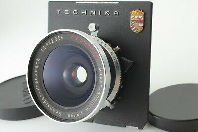 **EXC+++++** Schneider Kreuznach Super Angulon 90mm f/8 in Copal No.0 Shutter