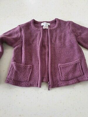 La Redoute Girls Purple Cardigan Size 5 Years 114 Verg Good Condition