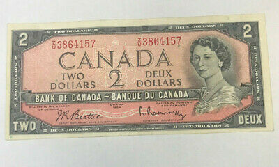Canada 1954 2 Dollars  Rare Last Prefix  * Z/U * Extremely Hard To Find