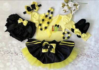 3pc set Personalised Yellow Wiggles Emma inspired Outfit