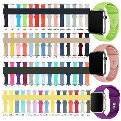Silicone Sport Belt Strap Watch Replacment Band For Apple iWatch Series 5 4 3 21