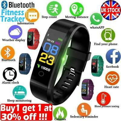 Fitness Smart Watch Activity Tracker Women Men Kid Fitbit Android iOS Yoga Sport