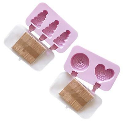 Frozen Ice-Cream Mold Popsicle Maker Juice Ice-Lolly Pop Mould Silicone 34R7