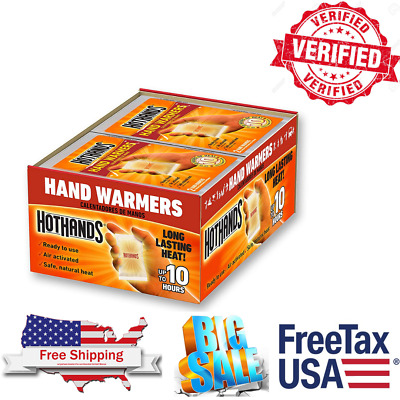 80 Hot Hands Handwarmers Warmers 40 Pairs Outdoor Camping FREE SHIP