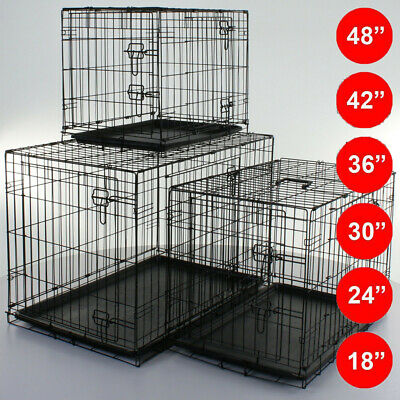 Small Medium Large XXL Pet Dog Cage Crate Foldable Travel Transport Carrier