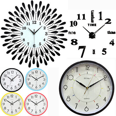 Extra Large Wall Clock Creative Diamond Roman Numberal Modern Clock Hanger Round