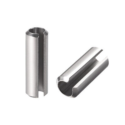 M6 x 20mm 304 Stainless Steel Split Spring Roll Dowel Pins Plain Finish 20Pcs