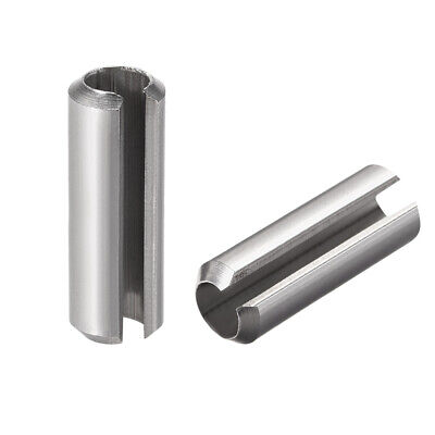 M8 x 40mm 304 Stainless Steel Split Spring Roll Dowel Pins Plain Finish 5Pcs