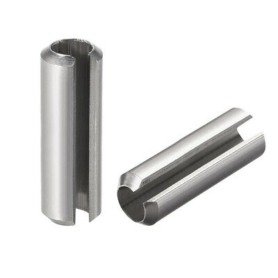 M8 x 45mm 304 Stainless Steel Split Spring Roll Dowel Pins Plain Finish 5Pcs