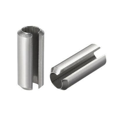 M8 x 20mm 304 Stainless Steel Split Spring Roll Dowel Pins Plain Finish 5Pcs