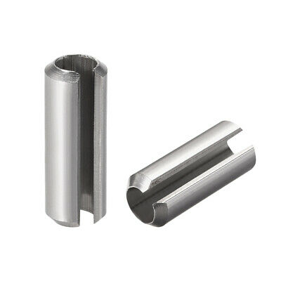 M8 x 30mm 304 Stainless Steel Split Spring Roll Dowel Pins Plain Finish 10Pcs