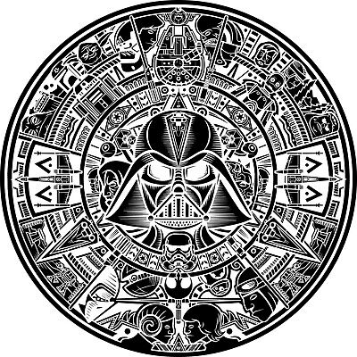 Star Wars Aztec Calendar DXF of PLASMA Laser Cut - CNC Vector DXF-CDR - AI file