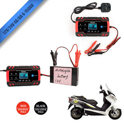Car Battery Charger, Portable Pulse Repair 12V & 24V Intelligent smart Charger