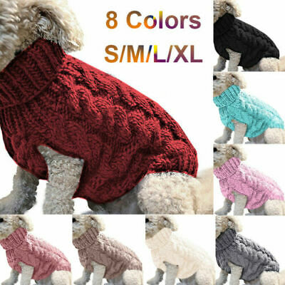 UK Fashion Knitted Puppy Dog Warm Jumper Sweater Pet Clothes For Small Dogs Coat